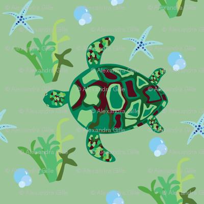 Turtle Sea Pattern
