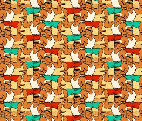 beach dude fabric by hannafate on Spoonflower - custom fabric