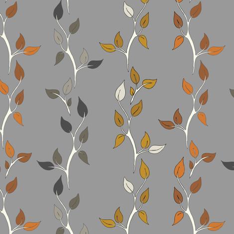 Twig Vines - Clay/Caramel/Rust/K40 fabric by fernlesliestudio on Spoonflower - custom fabric