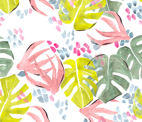Palmy fabric by gracehallman on Spoonflower - custom fabric