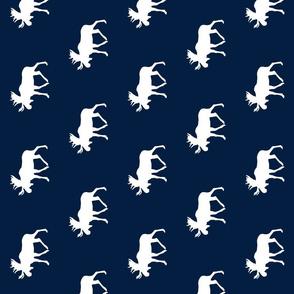 moose // white on navy (90)