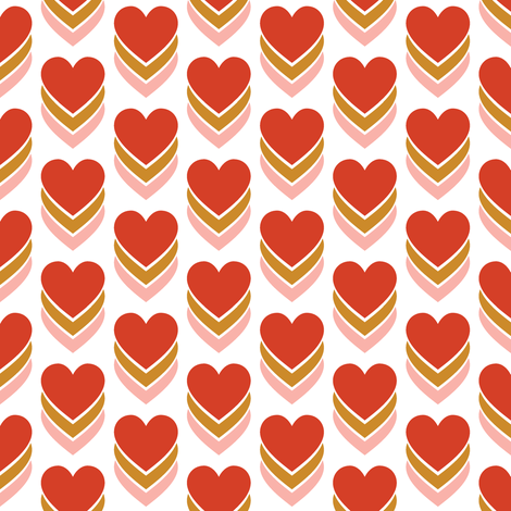 Sweethearts* || heart candy hearts valentine valentines day love pop art fabric by pennycandy on Spoonflower - custom fabric