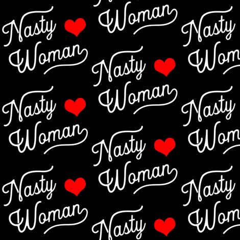 Nasty Woman at Night fabric by brainsarepretty on Spoonflower - custom fabric