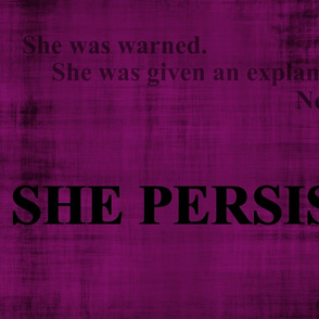 #shepersisted 2