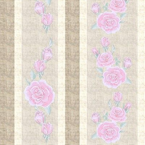 Old Fashioned Rose Stripe Light Pink