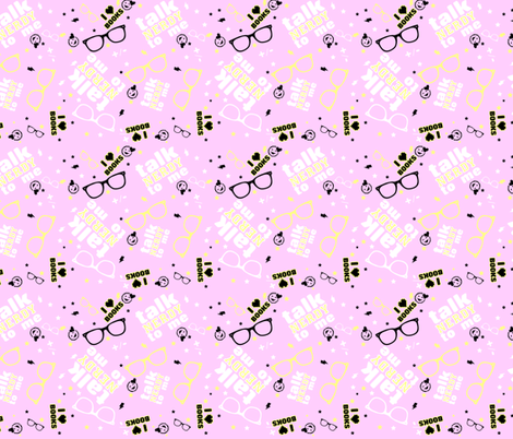 Brainy Is The New Cool- Pink and Yellow fabric by bradlee_scott on Spoonflower - custom fabric