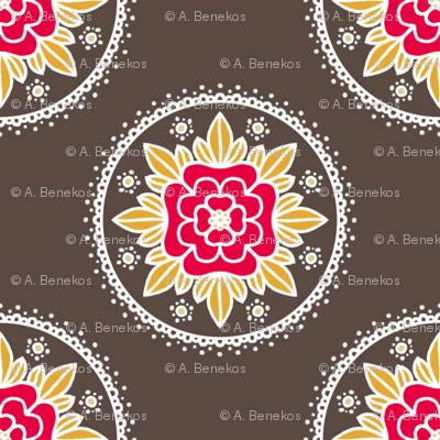 Kite Garden Rose - Retro Kitchen Colors A
