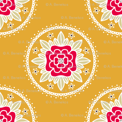 Kite Garden Rose - Retro Kitchen Colors B