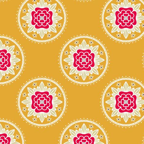 Kite Garden Rose - Retro Kitchen Colors B fabric by siya on Spoonflower - custom fabric