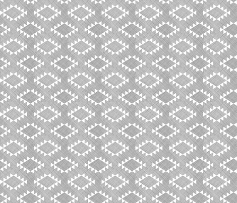 Aztec Crosshatch Gray Rotated fabric by leanne on Spoonflower - custom fabric