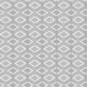 Aztec Crosshatch Gray Rotated