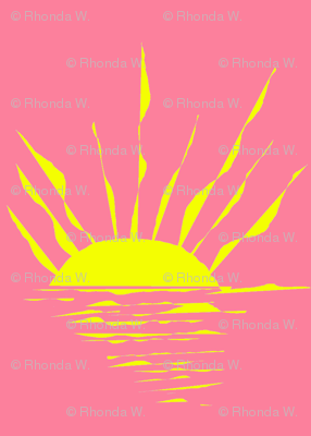 Sinking Suns on a Rose Pink Sea