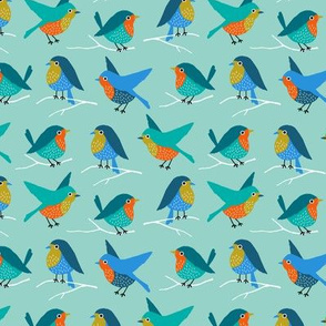 Colorful birds (small)