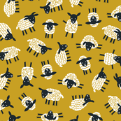 Little ditsy sheep ochre