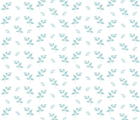 Leaves -mint mist 525 fabric by drapestudio on Spoonflower - custom fabric