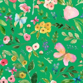 """10.5"""" Butterfly World / Green"""