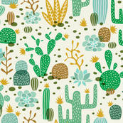 Wolf cactus desert green/brown