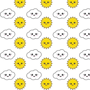 Kawaii Cloud and Sun