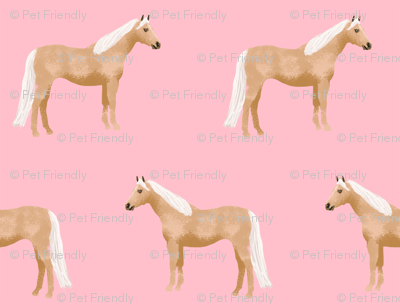 Palomino Horse fabric simple pink