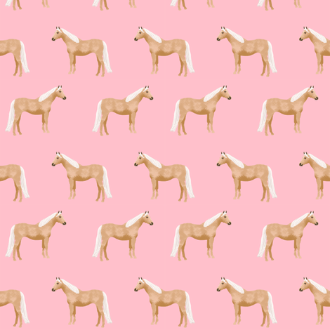 Palomino Horse fabric simple pink fabric by petfriendly on Spoonflower - custom fabric