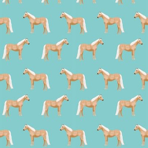 Palomino Horse fabric simple blue