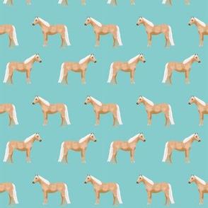 Palomino Horse fabric simple blue