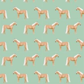 Palomino Horse fabric simple mint