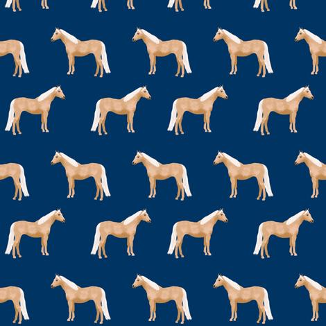 Palomino Horse fabric simple navy fabric by petfriendly on Spoonflower - custom fabric