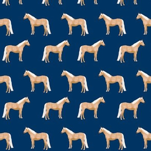 Palomino Horse fabric simple navy