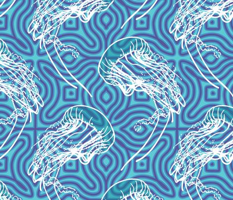 Aquatic Spirit  fabric by mariafaithgarcia on Spoonflower - custom fabric