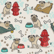 Pugs - Dog or Hydrant Day