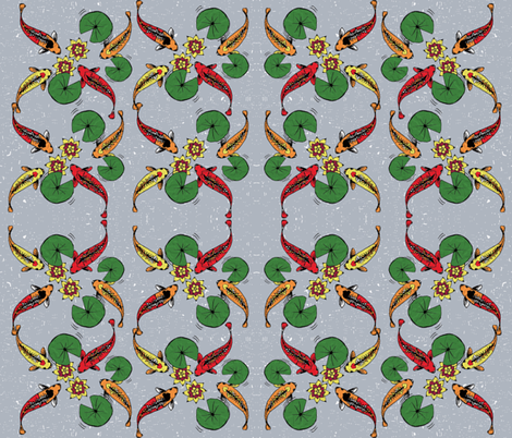 JAPANESE FISH fabric by fdlcreative on Spoonflower - custom fabric