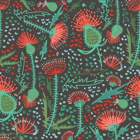 Thistle Patch Jade Summer fabric by teresamagnuson on Spoonflower - custom fabric