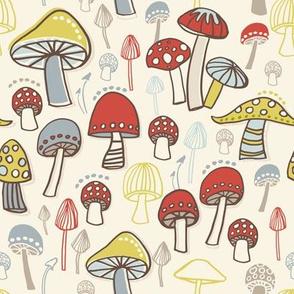 Toadstool Mushrooms Ivory