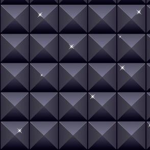 Seamless black mosaic background