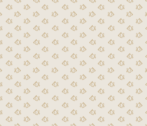 Fishies Tan fabric by teresamagnuson on Spoonflower - custom fabric