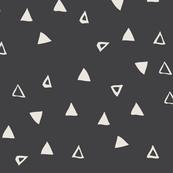 Tiny Triangles Charcoal Black