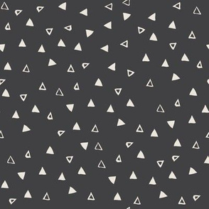 Tiny Triangles Charcoal Black