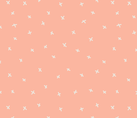 Peach PInk Xs fabric by teresamagnuson on Spoonflower - custom fabric