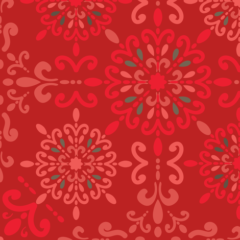 Moroccan Hanky Red fabric by teresamagnuson on Spoonflower - custom fabric