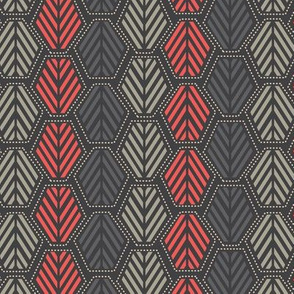Hexie Pines in Coral Gray