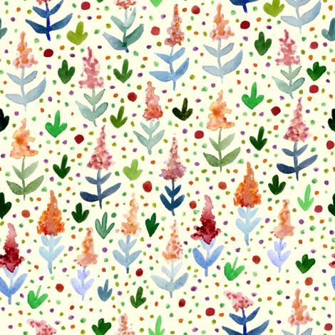 Summer flowers fabric by stewsha on Spoonflower - custom fabric
