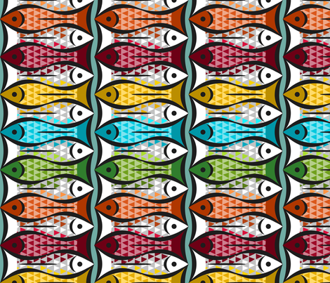 Shoal to Shoal  fabric by stitchyrichie on Spoonflower - custom fabric