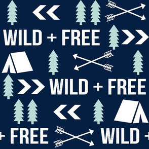 wild and free // outdoors camping fabric woodland camping forest arrows