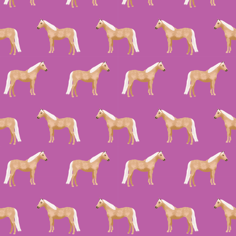 palomino horse fabric purple horse fabric  fabric by petfriendly on Spoonflower - custom fabric