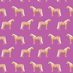 palomino horse fabric purple horse fabric