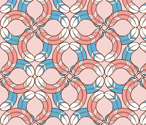 stripedfeathe2rs fabric by hannafate on Spoonflower - custom fabric