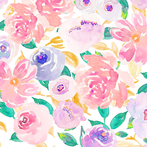 Indy Bloom Design Spring Fling B fabric by indybloomdesign on Spoonflower - custom fabric