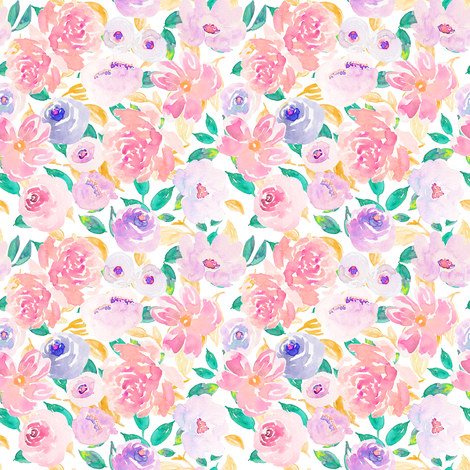 Indy Bloom Design Spring Fling C fabric by indybloomdesign on Spoonflower - custom fabric