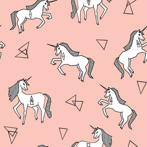 unicorn fabric // pink unicorn fabric girls pink unicorn design